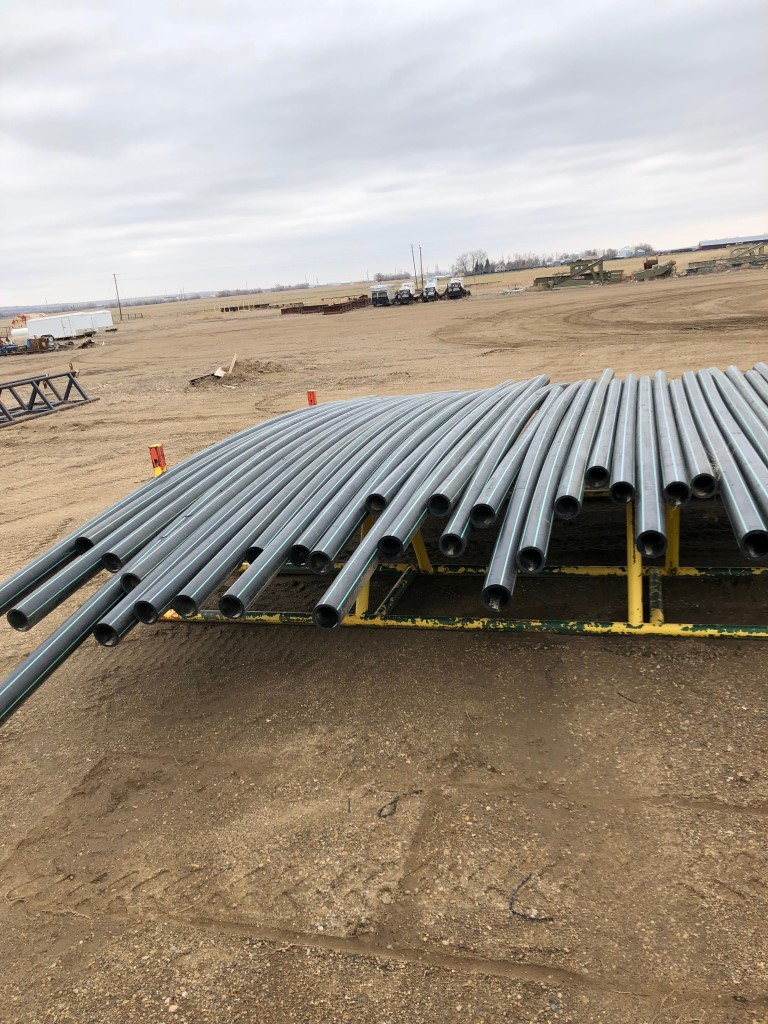 """HDPE PIPE in: Un-used/New Condition, 6"""" IPS Size: 6.625"""","""